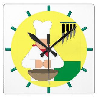 The Chef Kitchen Clock - Square