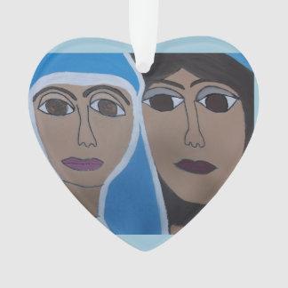 The Cherokee Jesus and Karyn Heart Ornament