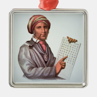 The Cherokee Scholar, Sequoyah (1776-1843) (colour Metal Ornament