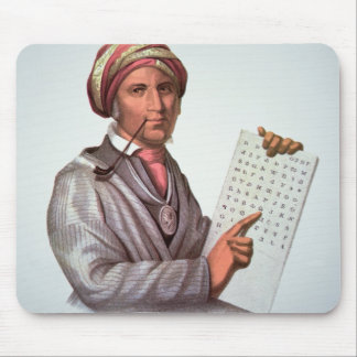 The Cherokee Scholar, Sequoyah (1776-1843) (colour Mouse Pad