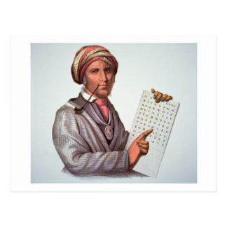 The Cherokee Scholar, Sequoyah (1776-1843) (colour Postcard