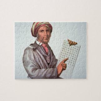 The Cherokee Scholar, Sequoyah (1776-1843) (colour Puzzle