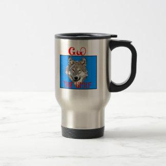 The Cherokee Wolf 15 Oz Stainless Steel Travel Mug