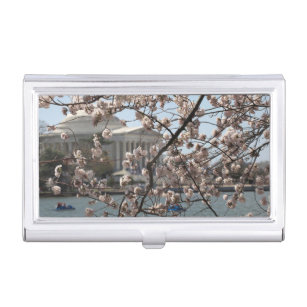 Washington dc business card holders cases zazzle the cherry blossoms in bloom in washington dc case for business cards reheart Gallery