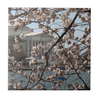 The Cherry Blossoms In Bloom In Washington DC Ceramic Tile