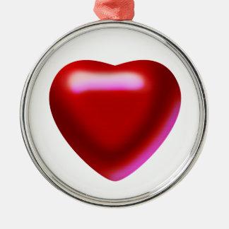 The Cherry Heart Premium Round Ornament