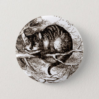 The Cheshire Cat Pinback Button