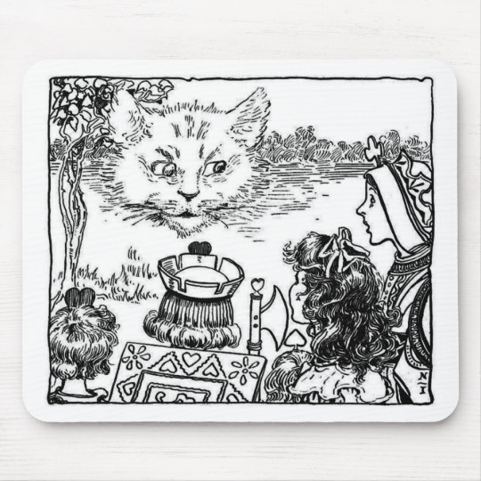 The Cheshire Cat Vintage Illustration Mouse Pad