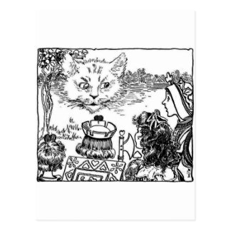 The Cheshire Cat Vintage Illustration Postcard