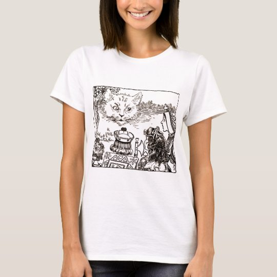 The Cheshire Cat Vintage Illustration T-Shirt