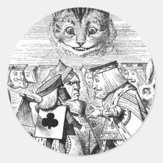 The Chesire Cat Classic Round Sticker