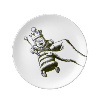 The Chess King by Tenniel Plate