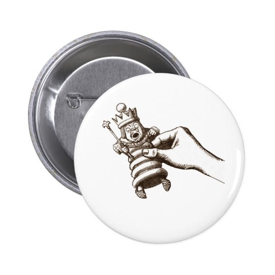 The Chess King Original Pinback Button