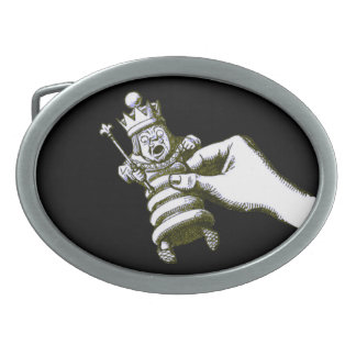 The Chess King Tenniel Oval Belt Buckle