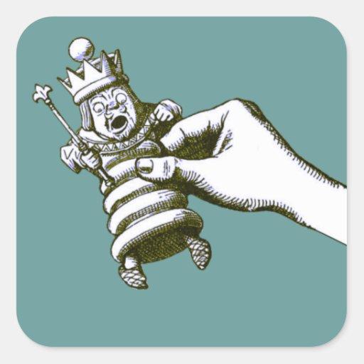 The Chess King Tenniel Square Sticker