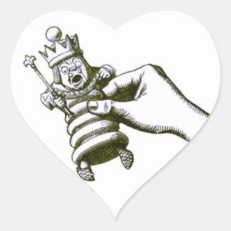The Chess King Tenniel Heart Sticker