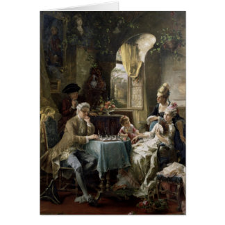 The Chess Players, 1887 2 Card