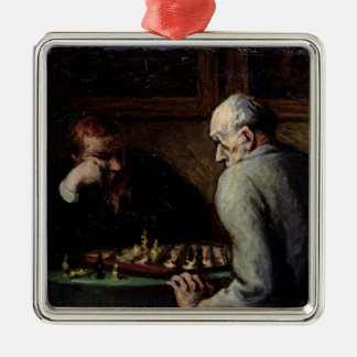 The Chess Players, c.1863-67 Metal Ornament