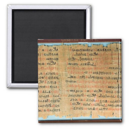 The Chester Beatty Medical Papyrus 2 Inch Square Magnet