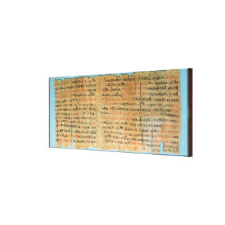 The Chester Beatty Medical Papyrus Gallery Wrapped Canvas