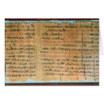 The Chester Beatty Medical Papyrus Card