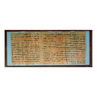 The Chester Beatty Medical Papyrus Poster