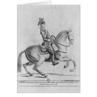 The Chevalier d'Eon as a Dragoon, 1779 Card