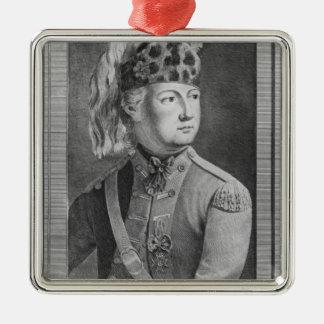 The Chevalier d'Eon as a Dragoon, 1779 Metal Ornament
