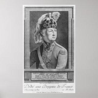 The Chevalier d'Eon as a Dragoon, 1779 Poster