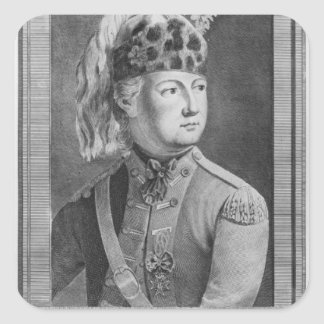 The Chevalier d'Eon as a Dragoon, 1779 Square Sticker
