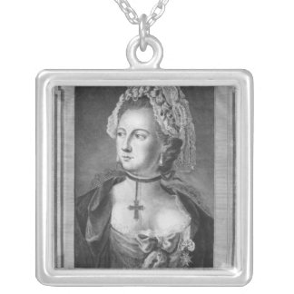 The Chevalier d'Eon, dressed as a woman Silver Plated Necklace