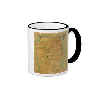 The Chevalier  Map of San Francisco Ringer Coffee Mug