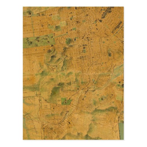 The Chevalier  Map of San Francisco Post Card