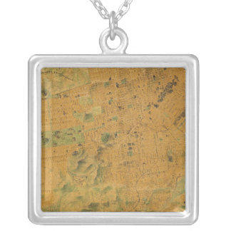 The Chevalier  Map of San Francisco Square Pendant Necklace