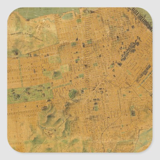 The Chevalier  Map of San Francisco Square Sticker