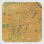 The Chevalier  Map of San Francisco Square Stickers