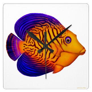 The Chevron Tang Reef Fish Wall Clock