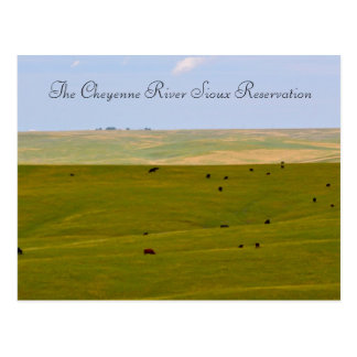 The Cheyenne River Sioux Reservation Postcard