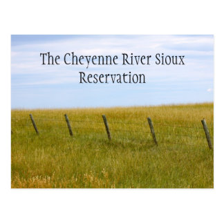 The Cheyenne River Sioux Reservation Post Card