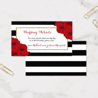The Chic Modern Luxe Wedding Collection- Red Roses Business Card