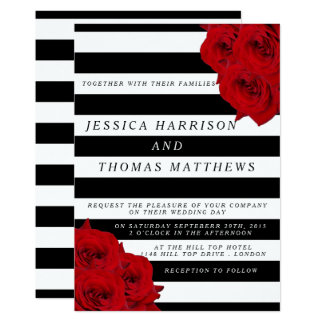 The Chic Modern Luxe Wedding Collection- Red Roses Card