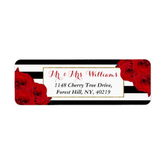 The Chic Modern Luxe Wedding Collection- Red Roses Label