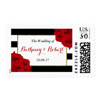 The Chic Modern Luxe Wedding Collection- Red Roses Postage