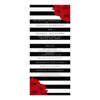 The Chic Modern Luxe Wedding Collection- Red Roses Rack Card