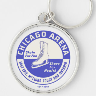 The Chicago Arena Company Ice Skating Rink Silver-Colored Round Keychain