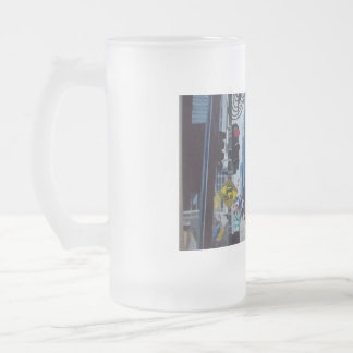 The Chicago Ave. Michigan Bridge Frosted Glass Beer Mug