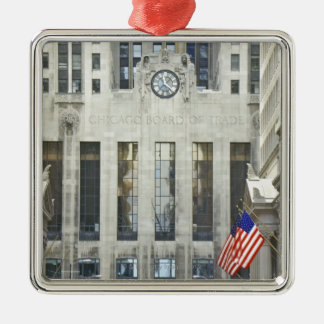 'The Chicago Board of Trade, Chicago, Illinois' Metal Ornament