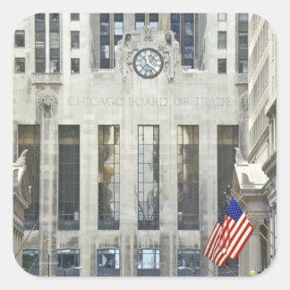'The Chicago Board of Trade, Chicago, Illinois' Square Sticker