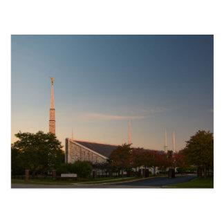 The Chicago Illinois LDS Temple Postcard