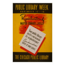 The Chicago Public Library Vintage WPA Poster